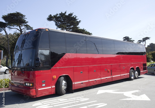Poster Red Tour Bus
