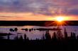 Sunrise in Yellowknife