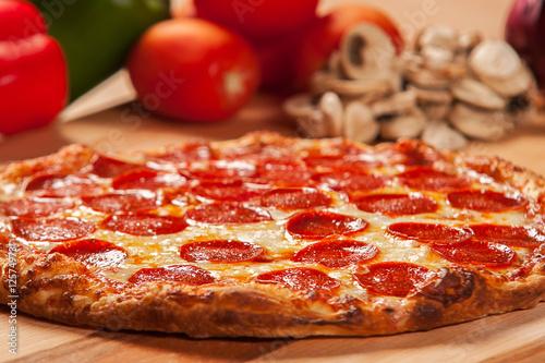 Papiers peints Pizzeria Pepperoni Pizza - Food Photography