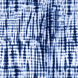 Indigo blue tie-dye pattern. Editable vector seamless repeat. - 125774936