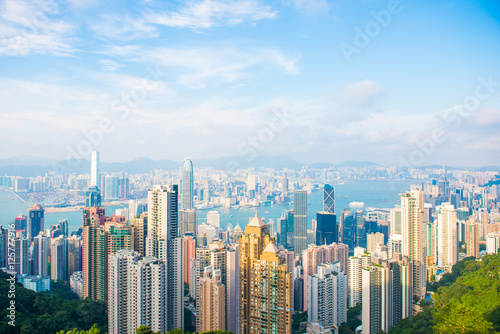 Poster, Tablou Skyscraper view from the peak tower, Hong kong