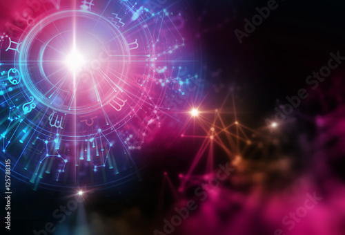Astrology and alchemy sign background illustration © monsitj