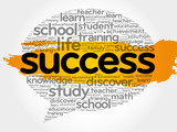 Success Think Bubble word cloud, business concept