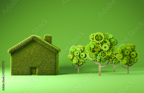Green house ecology concept
