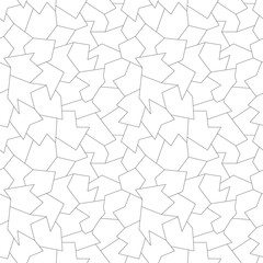 Abstract geometric black and white graphic design print memphis pattern