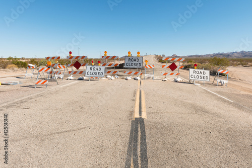 Fotobehang Route 66 Road Closed