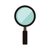 magnifying glass tool icon over white background. vector illustration