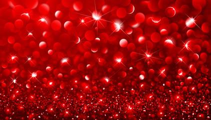 Christmas Red bokeh effect