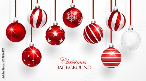Red Christmas Balls Set