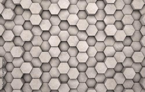 sciana-betonowych-szesciokatow-jako-tapeta-lub-tlo