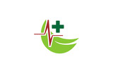 green technology medical networking logo