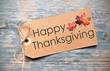 Happy thanksgiving label
