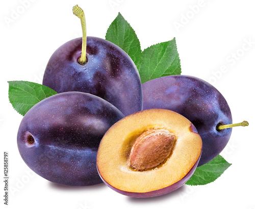 plum on a white - 125858797
