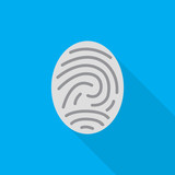 fingerprint flat icon illustration