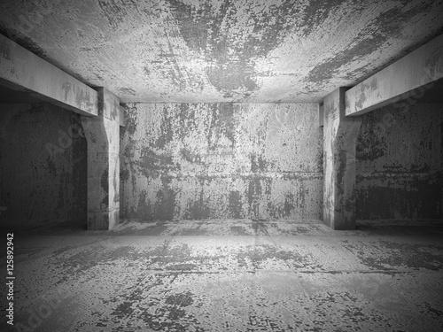 Dark empty urban concrete room urban interior © VERSUSstudio