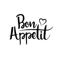 Bon Appetit handwritten lettering