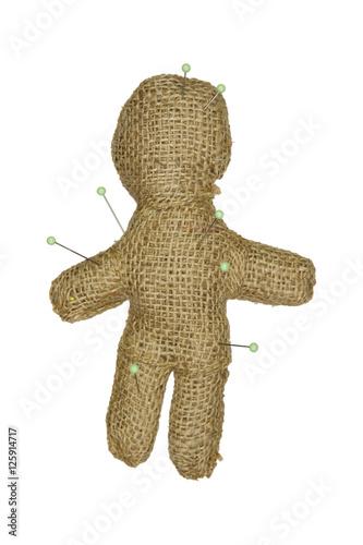 Valokuva Voodoo puppet on a white background