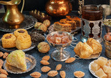 Large set of Eastern, Arab, Turkish sweets - 125934588
