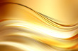 Gold bright waves art. Blurred effect background. Abstract creative graphic design. Decorative light fractal style.