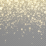 Vector gold glitter particles background effect - 125984546