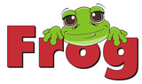 muzzle, face, word, name, peek up, animal, cartoon, toad, frog, toy, amphibian, reptile, croak, ribbit, happy, smiling