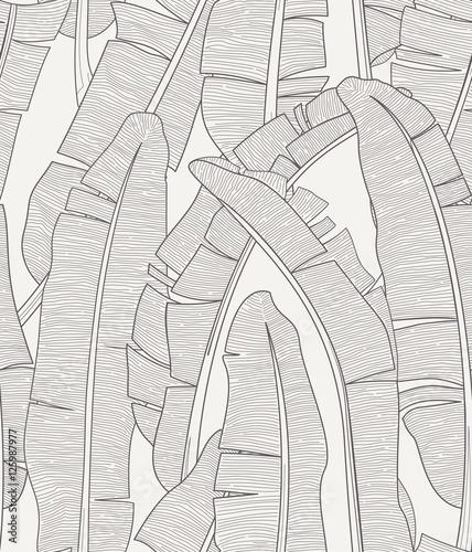 Banana Leafs Pattern - 125987977