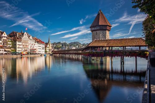 Kapellbrücke in Luzern, Schweiz Poster