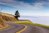 A view of twisty road on Mt. Tamalpais - 126000756