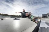 Fototapety Skater flying