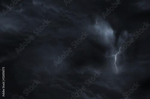 Dark Sky Lightning Storm Poster
