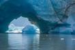 Huge Ice Tunnel in Iceberg, Stikine Lake, Alaska
