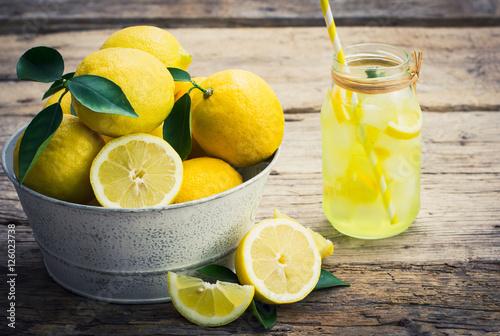 Poster Fresh lemons and lemonade