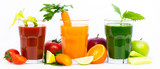 Healthy fruit and vegetable juices and smoothies