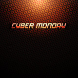 Cyber Monday vector background. Sale illustration. Abstract technology