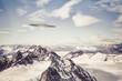 UFO over Alaskan Mountains