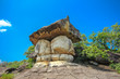 Phu Pha Thoep national park, is home to unusual rock formations and a cave with ancient hand paintingsin, Mukdahan, Thailand,