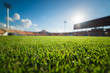 Green grass in soccer stadium