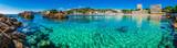 Panorama Coast Seaside Spain Majorca Beach of Paguera Platja Palmira