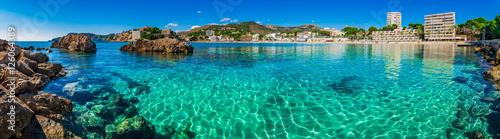 Panorama Coast Seaside Spain Majorca Beach of Paguera Platja Palmira - 126064389