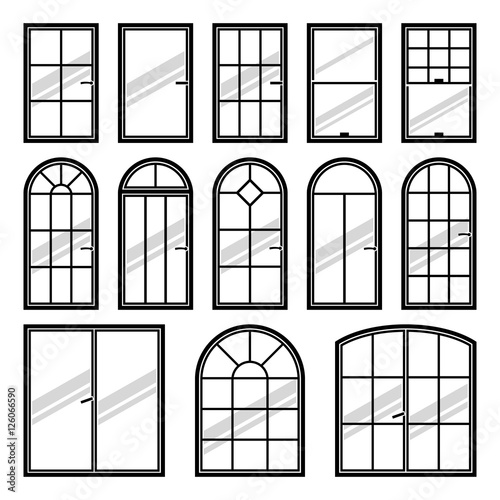 Vector Icons Set Of Diffe Types Windows