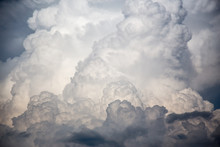 Wielkie chmury burzy