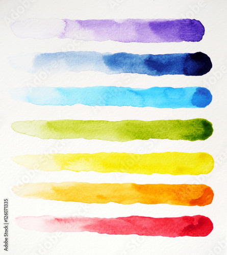 watercolor painting colorful pattern design, hand drawn illustration