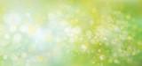 Fototapety Vector lights, green,  bokeh background.