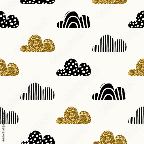 Seamless Clouds Pattern - 126082348