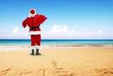 Fototapety santa claus on beach