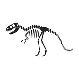 Tyrannosaurus Rex Icon In Black Style    Museum Symbol Stock  Illustration Wall Sticker