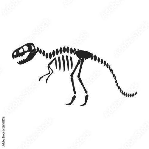 Fototapeta Tyrannosaurus rex icon in black style isolated on white background. Museum symbol stock vector illustration.