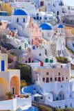 Vertical panorama of Oia town in Santorini, Greece - 126106141