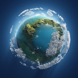 small Earth in the space
