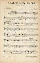 antique feuille de musique vintage français.
